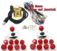 Wholesale Arcade Joystick Buttons Kit - Wholesale-1 kit for Juyao Arcade to USB controller 2 player MAME Multicade Keyboard Encoder with sanwa joystick and button