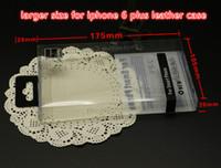 caixa do varejo do caso iphone6 venda por atacado-Caixa de empacotamento do retalho do PVC da bolha da forma de 17.5 * 10.5 * 2cm / pacote plásticos para o caso da tampa s5 s6 para 6 positivo para o caso do couro iphone6