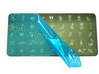 ingrosso chiodo immagini gratis-Fashion Nail Tools! 6x12 cm Timbratura Nail Art Template Serie to1 ~ 16 Nail Polish Trasferimento Nail Art Piatto Immagine SPEDIZIONE GRATUITA! # X061