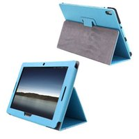 Wholesale Lenovo Tablet Skin - S5Q Smart Stand Cover PU Leather Folio Case Skin For Lenovo A10-70 A7600 Tablet 10.1'' AAAEAC