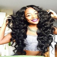 Wholesale Deep Wave Brazillian - Wholesale 8A virgin human hair deep wave lace front human hair wig glueless full lace wigs brazillian hair wigs for african american wigs