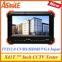 Wholesale Cctv Tester Dhl - DHL free shipping multi-function cctv tester for X41T with portable cctv lcd monitor tester from asmile
