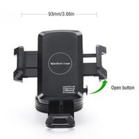 aufladung telefonständer großhandel-Universal-Qi Wireless Charger Transmitter mit Auto-Lade-Adapter Sucker Mounted Phone Stand Halter für Samsung Galaxy