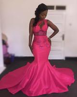 uma alça strapless vestidos de baile venda por atacado-Um Ombro Sereia Prom Vestidos Keyhole Frente Sexy Black Girls Party Gowns Lantejoulas Apliques Vestidos Formais Voltar Tiras Vestidos de Formatura