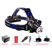 Wholesale Hunting Headlights Sale - 2000LM Zoomable LED Headlamp Aluminum Alloy Casing Headlight with 3 Modes Adjustable Focus for Hunting Hot Sale