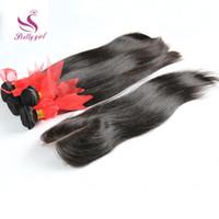 saç örgüsü demetleri satın alma toptan satış-3 Get 4 al! Ücretsiz Dantel Kapaklar ile brezilyalı Düz Saç Demetleri Malezya Perulu Hint Kamboçyalı Işlenmemiş Bakire Insan Saçı Örgü