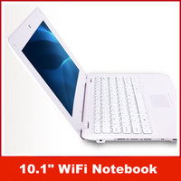 "Wholesale White Netbook - New 10.1"" WiFi mini Laptap Notebook 4GB Computer Netbook VIA8850-1.5GHz-Android 4.1 -THE LATEST MODEL"