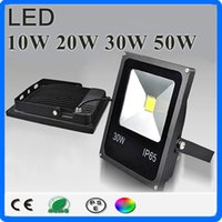 Discount led projection floodlights - LED Floodlight Cold White Warm White RGB 10w 20w 30w 50w 85~265V Waterproof IP65 Projection Led Spotlight Outdoor Lighting