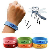 2015 New Arrival Colorido bebê Mosquito repelente Band Braceletes Anti Mosquito Kids pulseiras Pure Natural Baby Wristband Hand Ring