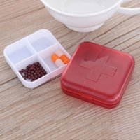 Wholesale Small Compartment Storage Boxes - Multi-function Four-compartment Pill Organizer Medicine Storage Tablet Holder Jewelry Box Small Objects Container order<$18no track