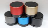 Wholesale Best Mini Portable Bluetooth Speaker - S10 Bluetooth Speakers Steel frame Mini Wireless Portable Speakers HI-FI Music Player Audio for phone Mp3 4 PSP Tablet DHL FREE Best