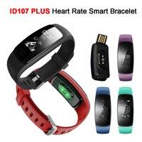 браслеты оптовых-ID107 Plus HR Смарт-браслет Монитор сердечного ритма ID107Plus GPS Активность Спорт Трекер Браслет Здоровье Фитнес Отслеживание запястье SmartBand