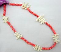 New Arrivals Sexy Women Party Chokers Stement Handmade Strings Colar Beads Imiatation Red Coral Shell Charm Girl Colar Colar Jóias