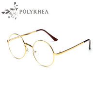 Wholesale high quality spectacles - High Quality Grade Eyewear Frames Vintage Round Glasses Female Brand Designer Spectacle Plain Glasses With Case And Box