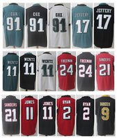 Wholesale Footballs Ryan - Stitched Limited Jerseys 2 Matt Ryan 11 Julio Jones 11 Carson Wentz 21 Deion Sanders 17 Alshon Jeffery 91 Fletcher Cox 9 Drew Brees Freeman