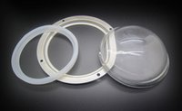 Wholesale Concave Glass Lens - Concave 100mm Glass Lens + Silicone Ring + Holder Bracket Case Kit For 100W 200W 300W 500W High Power Led Light