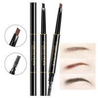Wholesale eyebrow shaped online - Promotion Double Headed Automatic Rotary Eyebrow Pencil Waterproof Eyebrow Enhancer Two end with Shaping Brush Makeup Beauty Tool Colors