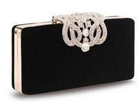 Wholesale Denim Over - new Women's Upscale Party Handbag Czech Diamond Crowne Velvet Hard Case Clutch Evening Bag Chain Crossbody Messenger Bag top