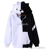 Wholesale Dangan Ronpa Cosplay - Wholesale-dangan ronpa monokuma cosplay costume game anime fashion causal animal bear jacket hoodie halloween party costumes unisex