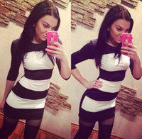 Wholesale Tight T Shirts For Women - 2016 Europe and America big brand base shirt for women tight dress T-shirt NSY41
