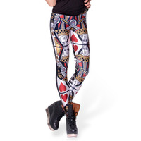 Wholesale Queen Hearts Leggings - 2017 NEW 3064 Poker Red Queen Hearts King Skull 3D Prints Sexy Girl Pencil Yoga Pants GYM Fitness Workout Polyester Women Leggings Plus Size