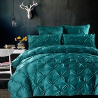 Wholesale Green King Size Quilt Sets - Wholesale- Svetanya hand-made washed Silk Cotton Bedding Sets Queen King Size Bedlinen Quilt Covet Set Silver Green Pink Red