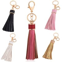 Wholesale Purse Charm Key Chain - 20cm Women Leather Tassel Key Chain Charming Phone Pendant Ornament Car Keyring Purse Bag Decor Accessories