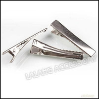 Wholesale Jewelry Findings Wholesale Prong - 180pcs lot Wholesale New Prong Barrettes & Brooch Clips Finding, Alligator clips, Crocodile Clips 41mm Fit Jewelry DIY 160324