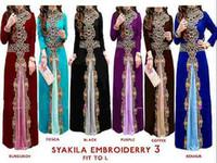 Wholesale Black Color Block Dress - OEM muslim dress abaya Slim Fit color block Pleated Embroidery Muslim Clothing Wholesale kaftans for Woman Abaya Jersey M-1512