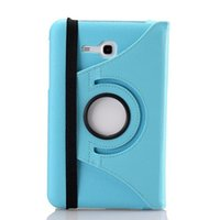 Wholesale Galaxy Mini2 - Free Film For Samsung Galaxy Tab 3 Lite T110 Ipad Mini mini2 mini3 Rolative Flip leather case Litchi skin Stand holder cover case 1PCS