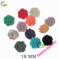 Wholesale German Flowers - free shipping new fashion lovely Snaps Jewelry mixed color flowers Snap Button Fit DIY Bracelet German Flag Pattern Round 18mm,best gifts