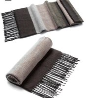 Wholesale Christmas Wrapping Drop Shipping - Newest men's imitation cashmere scarf Wraps vintage wide strips winter warm sports ski tassel long scarves Christmas men gift drop shipping