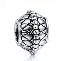 Wholesale Chain Fencing - 925 sterling silver charm fence silver beads for snake chain bracelet DIY fashion jewelry