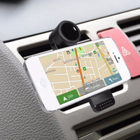 Wholesale Vent Mount For Gps - Universal Mobile Phone Holder Car Air Vent Mount Bracket for Samsung Galaxy for iPhone for Android Phone GPS