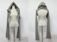 Wholesale Thick Knit Scarf Sets - New Arrival Sweet Girls' Winter Scarf With Hat Thick Neck Wrap Women Hooded Knitted Scarf 130*23cm Free Shipping