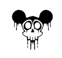 Decal Sticker Ombie Mouse, Rodent, Dead vivente, Film horror, Film spaventoso