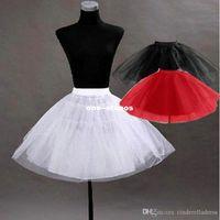 Wholesale Pageant Slips - Cheap Pretty Tutu Petticoat Underskirt Kid's Accessories In Stock Red Black Girls Pageant Dress Crinoline No Hoop Undergarment Slip CPA274