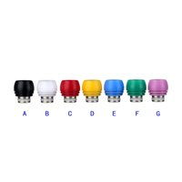 Wholesale fit bearing - Newest Stainless Steel Drip Tip Derlin Wide Bore Drip Tips for Electronic Cigarette Verious Colors Mouthpiece fit 510 RDA Vaporizer Atomizer