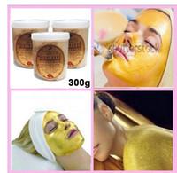 parlaklaştırıcı yüz maskesi toptan satış-24 K ALTıN Aktif Yüz Maskesi Toz Parlatıcı Lüks Spa Anti Aging Kırışıklık Tedavisi Yüz Maskesi 300g