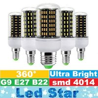 Wholesale g9 corn bulbs online - NEW G9 Led Bulbs High Power W W W W W Led E27 E14 GU10 Led Lights Corn Lamp AC V ce ul
