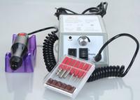 tırnak töreni kalemi ücretsiz gönderim toptan satış-Ücretsiz nakliye Nail Art Ekipmanları Manikür Pedikür Aletleri Akrilik Gri Elektrik Nail Matkap Kalem Makinesi Seti Takımı