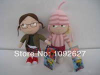 Wholesale Despicable Edith - Wholesale-Free Shipping 20cm Despicable Me 3pcs  orphan Girl Margo Edith Agnes Girls High Quality Plush Doll Toy Wholesale And Retail