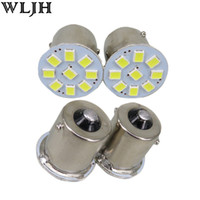 Wholesale WLJH V BA15S P21W SMD AUTO Car Truck Trailer RV Brake Parking Reverse Backup Lights Signal Lamp Bulb External Lights