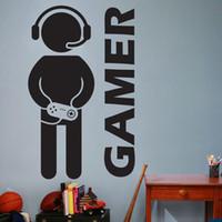 videokunst großhandel-Video Game Gaming Gamer Wandtattoo Art Decor Aufkleber Vinyl Wandtattoo für Jungen Zimmer