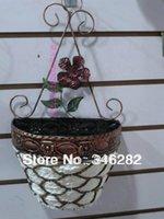 Wholesale Ceramic Wall Baskets - Wrought iron wall hanging rattan& vase flower basket flower home decoration derlook muons