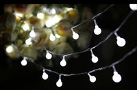 Wholesale Led String Lights Outdoor Use - 10M 100Leds Solar Led String Light Colorful Ball Light Waterproof Christams Fairy Lights For Party Weeding Decoration Outdoor Use DHL free