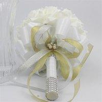 Wholesale Decorative Bouquets - estive Party Supplies Decorative Flowers Wreaths Handmade Fashion wedding brides bouquet bridesmaid PU DIY flowers Bridal bouquet Home W...
