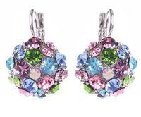 Wholesale Wholesale Big Pendants For Earrings - Stud Earrings For Women Fashion Jewelry Rhinestone Crystal Elegant Simple Inlay Diamond Pendant Big Gold Silver Crystal Earrings for Women
