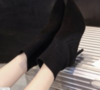 Wholesale Korean Winter Fashion Boots - Korean version of pointed high heel 2017 autumn and winter new wool tube boots Martin fine with socks women's boots