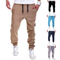 Wholesale Mens Casual Trousers - Brand Men Pants Hip Hop Harem Joggers Pants 2017 Male Trousers Mens Joggers Solid Pants Sweatpants